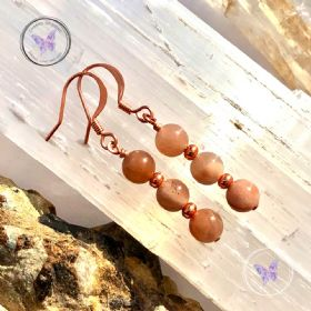 Sunstone Copper Earrings